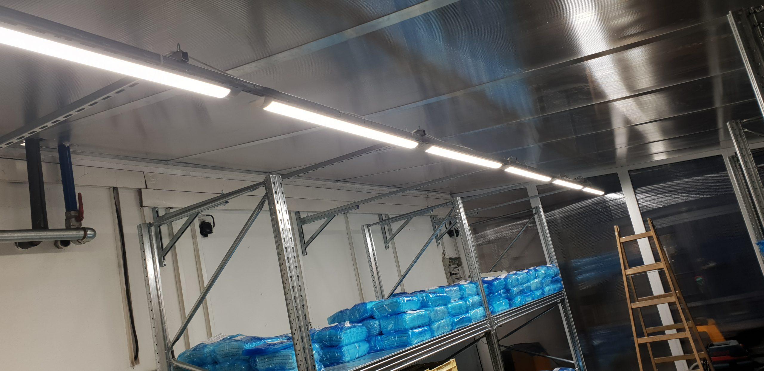 Osvetlenie skladových priestorov firmy - Dubnica nad Váhom